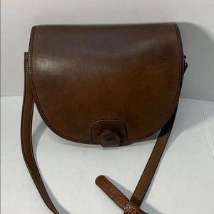 Nice Odd Shape Vintage Leather Coach Bag